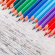 Multicolored pensils — Stockfoto