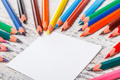Paper and pencils — Stockfoto