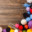 Color woolen clews — Stockfoto