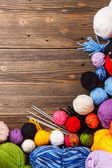 Color woolen clews — Foto Stock