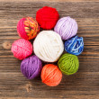 Knitting yarn balls — Stock Photo #23361512