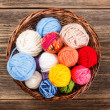 Knitting yarn balls — Stockfoto
