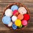 Knitting yarn balls — 图库照片