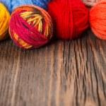 Wool knitting balls — Stock Photo