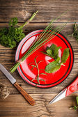 Fresh aromatic herbs — Stock Photo