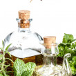 Stock Photo: Herbs and olive oil