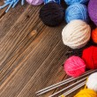 Stock Photo: Knitting yarn