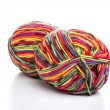 Multicolored yarn — Stock Photo