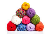 Pyramid of yarn — Stock Photo