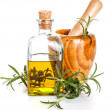 Rosemary oil bottle — Stockfoto