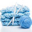 Needles and yarn - Stock Photo