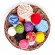 Knitting yarn balls — Stock Photo