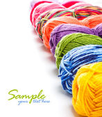 Multicolored yarns — Stock Photo