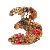 Spices number — Stock Photo