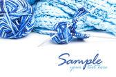 Clew azul con agujas — Foto de Stock