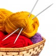 Knitting yarn balls — Stock Photo #23632505