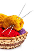 Knitting yarn balls — Foto de Stock