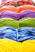 Set of knitting yarn — ストック写真