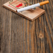 Mousetrap and cigarette — Stock Photo