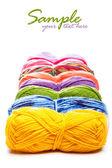 Hilos multicolores — Foto de Stock