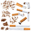 Stock Photo: Set of cigarettes