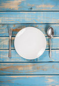 Empty white plate — Stock Photo