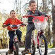 Boys with bike — Stock Photo