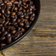 Coffee in plate — Stockfoto