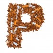 Letter P — Stock Photo #27603367