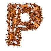 Letter p — Stockfoto