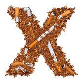 Letter X — Стоковое фото