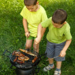 Barbecue party — Stock Photo