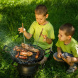 Foto Stock: Barbecue party