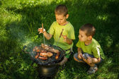 Partie de barbecue — Photo