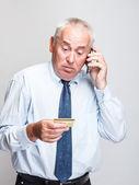 Oudere zakenman — Stockfoto