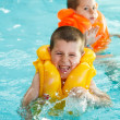 Boys in life jacket — Stock Photo