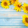 Frame with sunflowers — Foto de Stock
