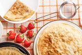 Fresh homemade pancakes — Stock Photo