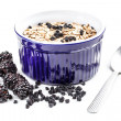 Muesli and blackberries — Stock Photo