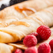 Close up of roll pancakes — Stock Photo