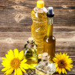 Sunflower oil — Foto Stock