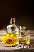 Two oil bottle — Stock Photo
