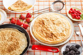 Fresh pancakes — Stock Photo
