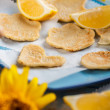 Lemon pancakes — Stock Photo