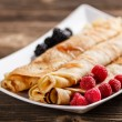 Roll pancakes — Stock Photo
