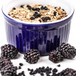 Stock Photo: Wholegrain muesli breakfast