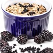 Wholegrain muesli breakfast — Stock Photo