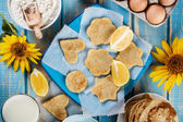 Lemon pancakes — Foto de Stock