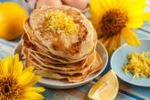 Homemade pancakes — Stock Photo