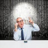 Middle-aged businessman — Stock Photo